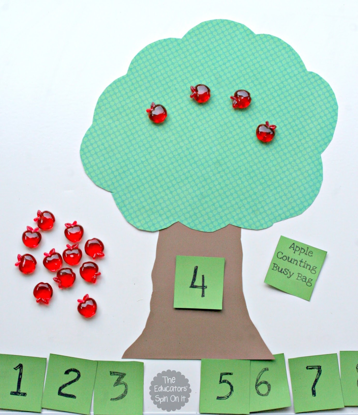 Counting Apples Busy Bag For Hands On Math Fun For
