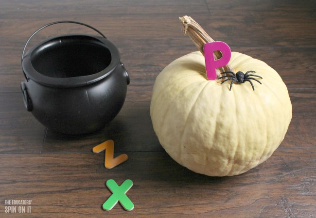Witch Themed Alphabet Hide And Seek Game For Halloween