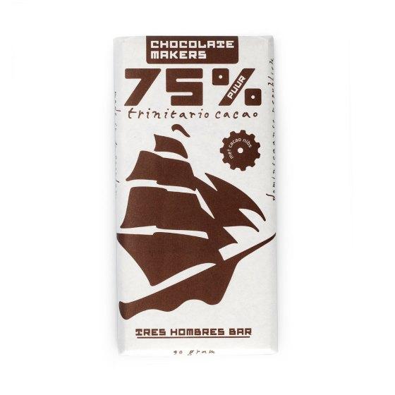 Tres hombres 5% met grebrande cacoa nibs