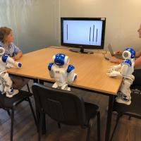 Children put on by robots
