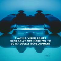 Playing video games generally not harmful to boys' social development