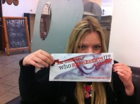 The lovely Joanna, BA PR, shows her support. Thanks! x