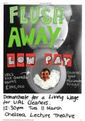 Shelly's Poster: Flush away low pay!