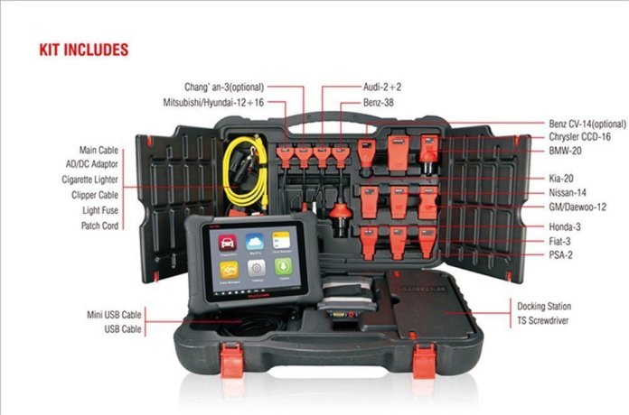 Maxisys Elite all kits that you will get with this obd2 scanner
