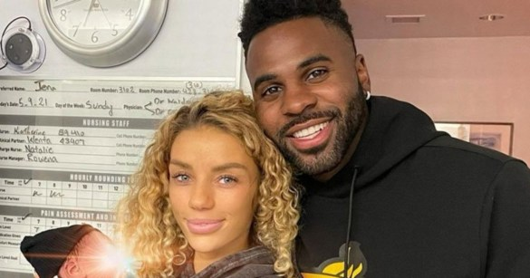 Jason Derulo and Jena Frumes started dating in 2020 and welcomed son in May 2021. Photo: Getty Images.