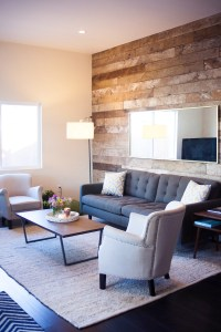 Sneak A Peek // Kate's Industrial Chic Living Room