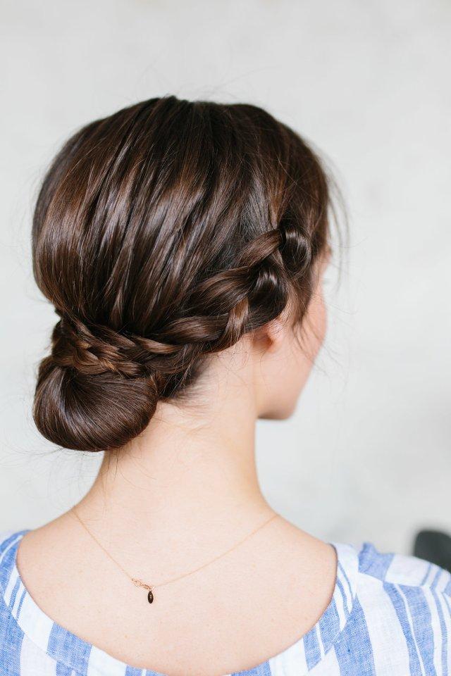 oktoberfest braided bun hair tutorial - the effortless chic