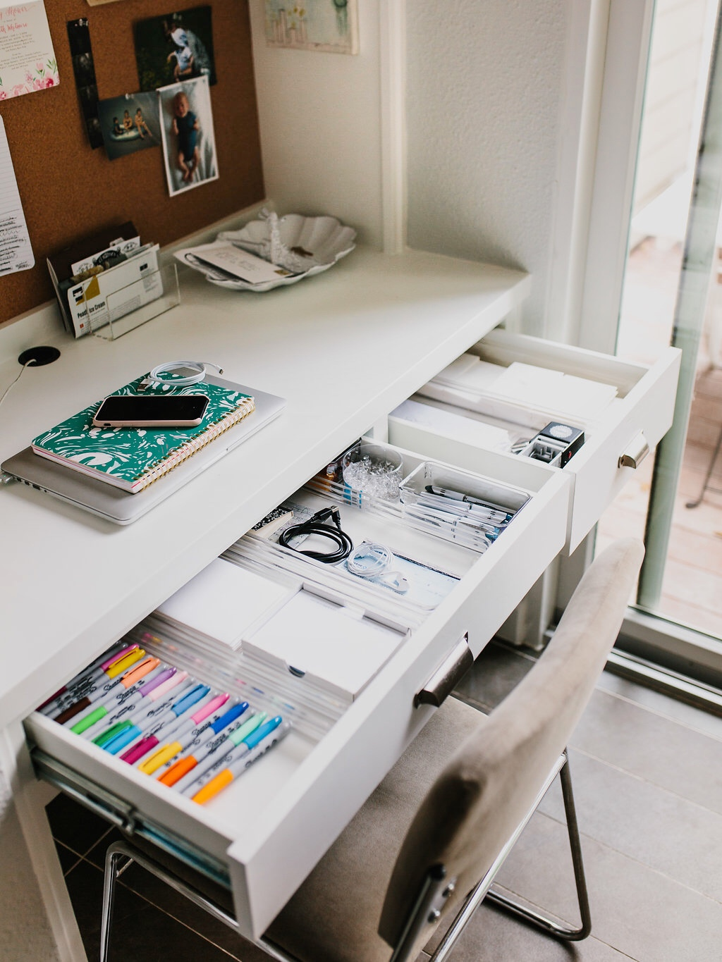 Margarets Office Nook  How to Keep an Organized Desk