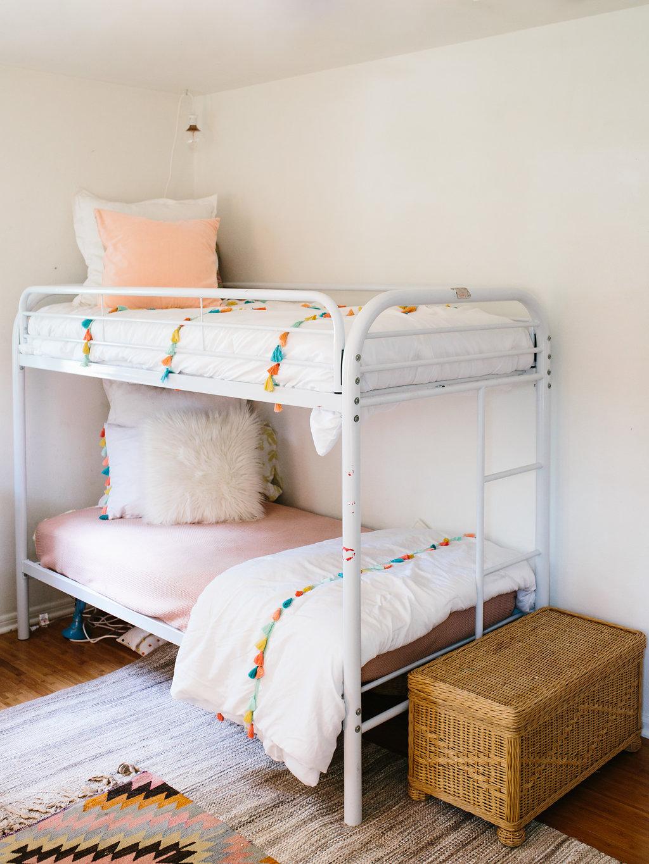 vintage whimsical shared girls room