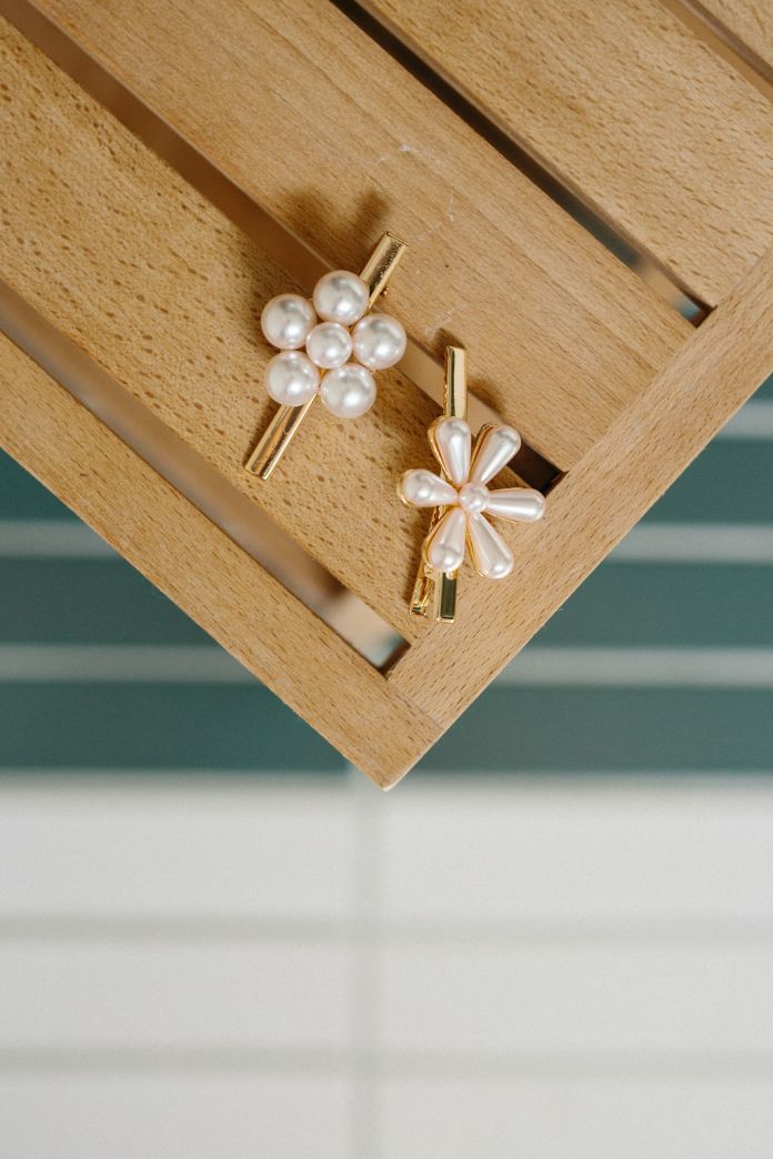 Pearl pins to use in the french braid