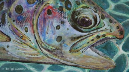 Painting from Art of Angling at the Fly Fishing Rendezvous