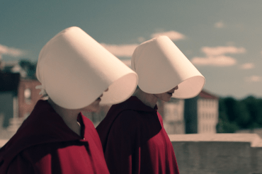 Handmaids walking