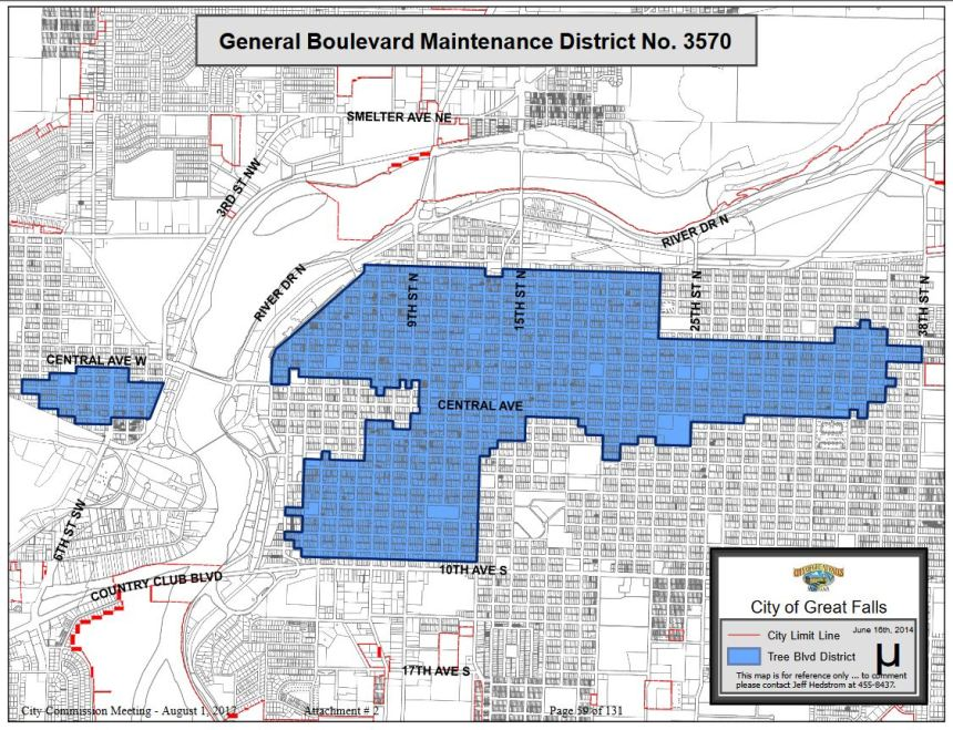 GF boulevard district boundary