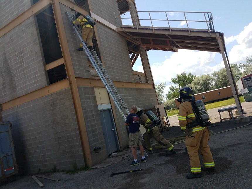 Great Falls Fire Rescue rookie training