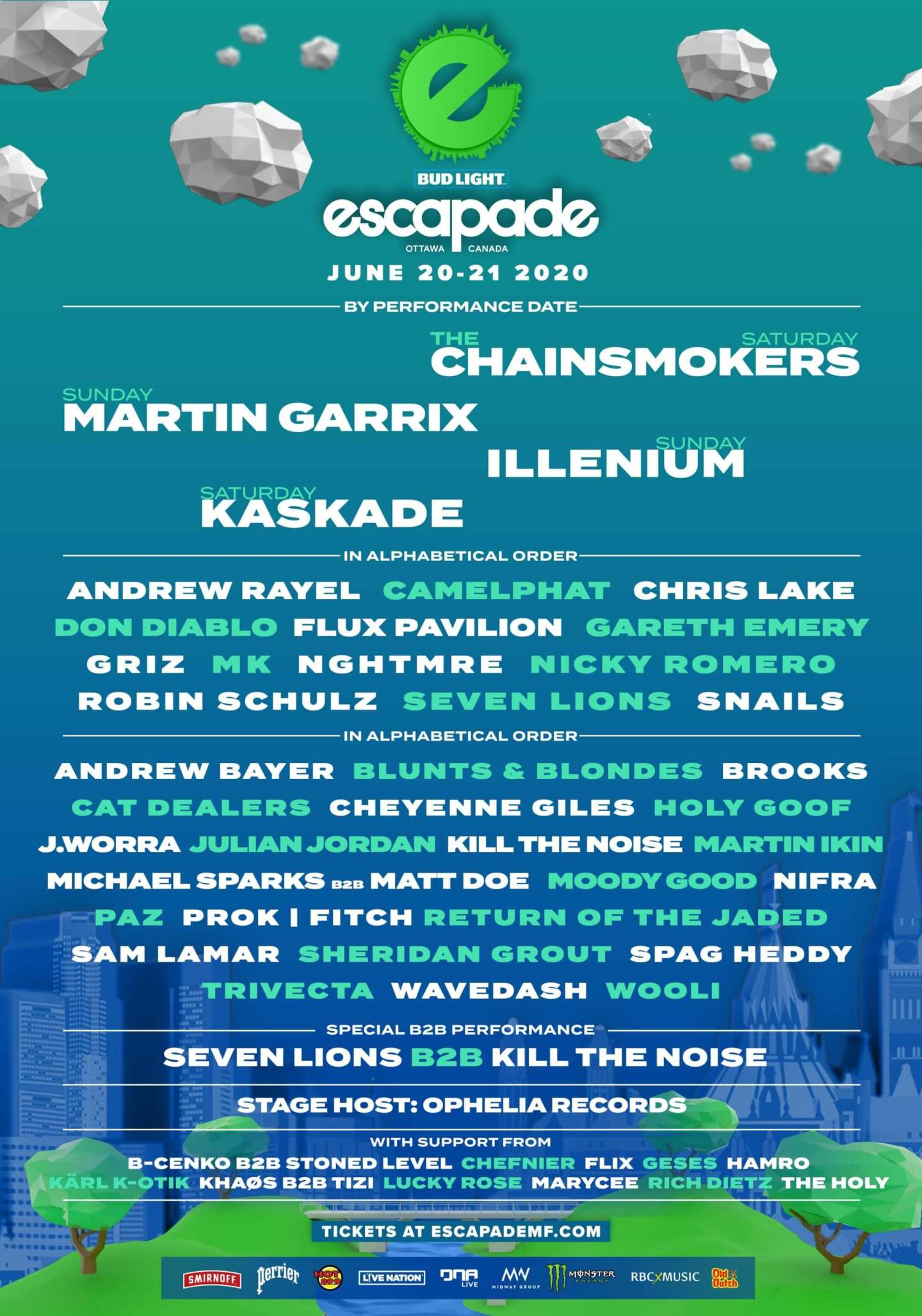 Canada is notorious for amazing EDM Festivals. Escapade is no stranger to having big names on its lineups. So pack your bags and grab your Yerba Mate