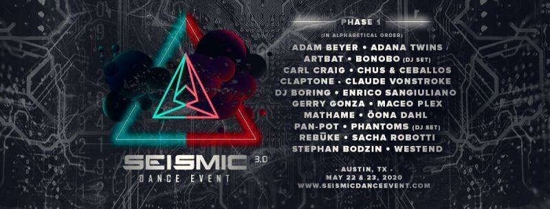 Seismic Dance Event 2020 lineup