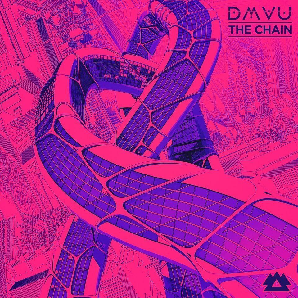 The Chain DMVU EP Cover Art Electric Hawk