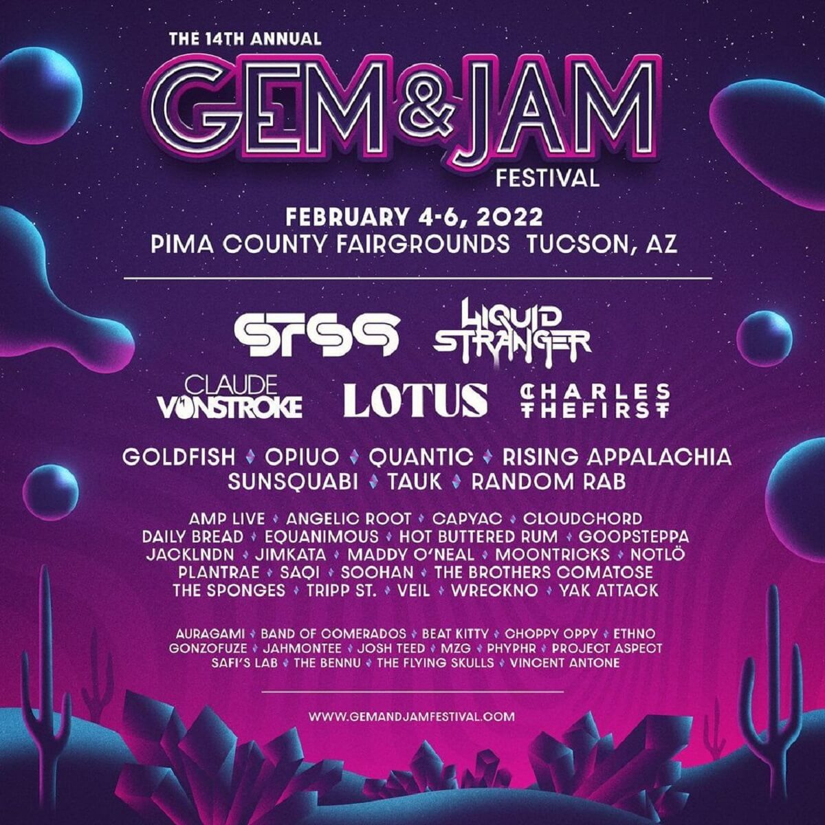 Gem and Jam 2022 Lineup