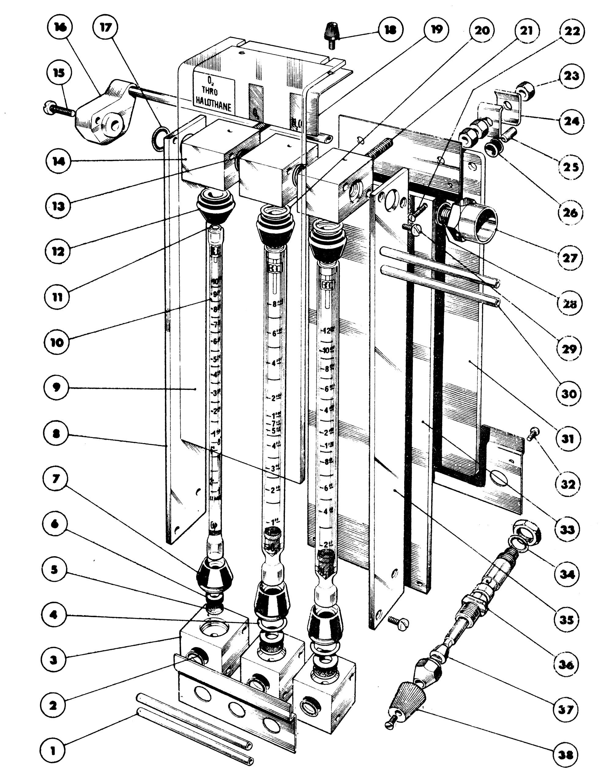 hight resolution of flowmeter block