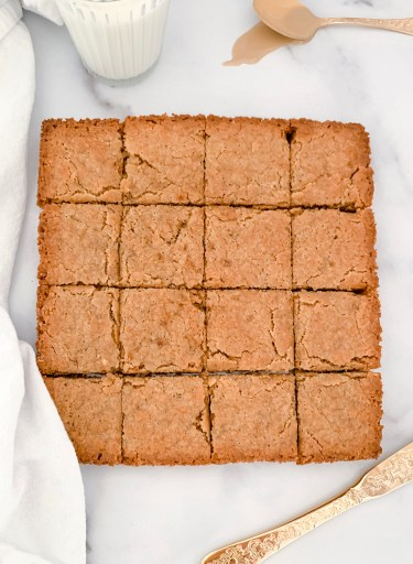 Brown Butter Tahini Blondies