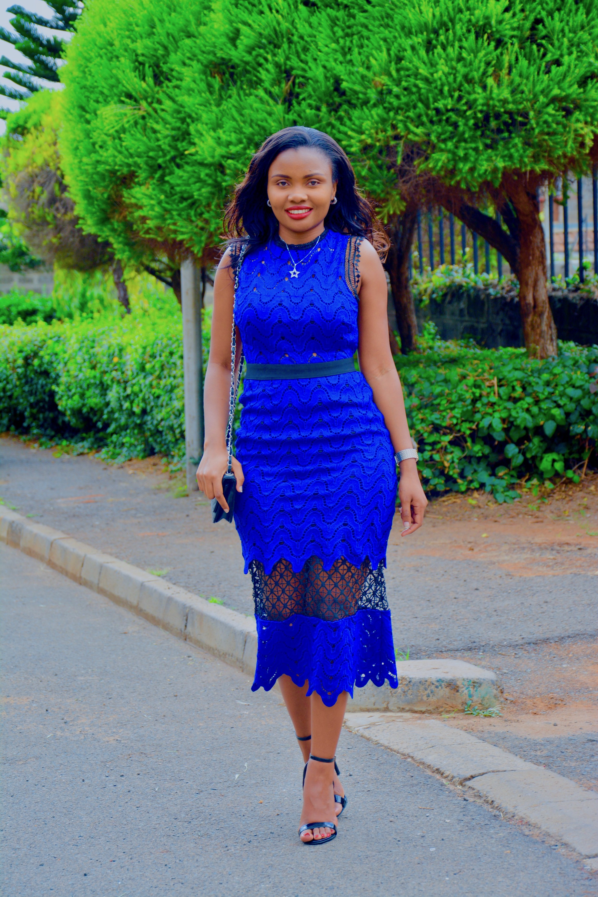 Alpha Female Blue Crochet Dress 2