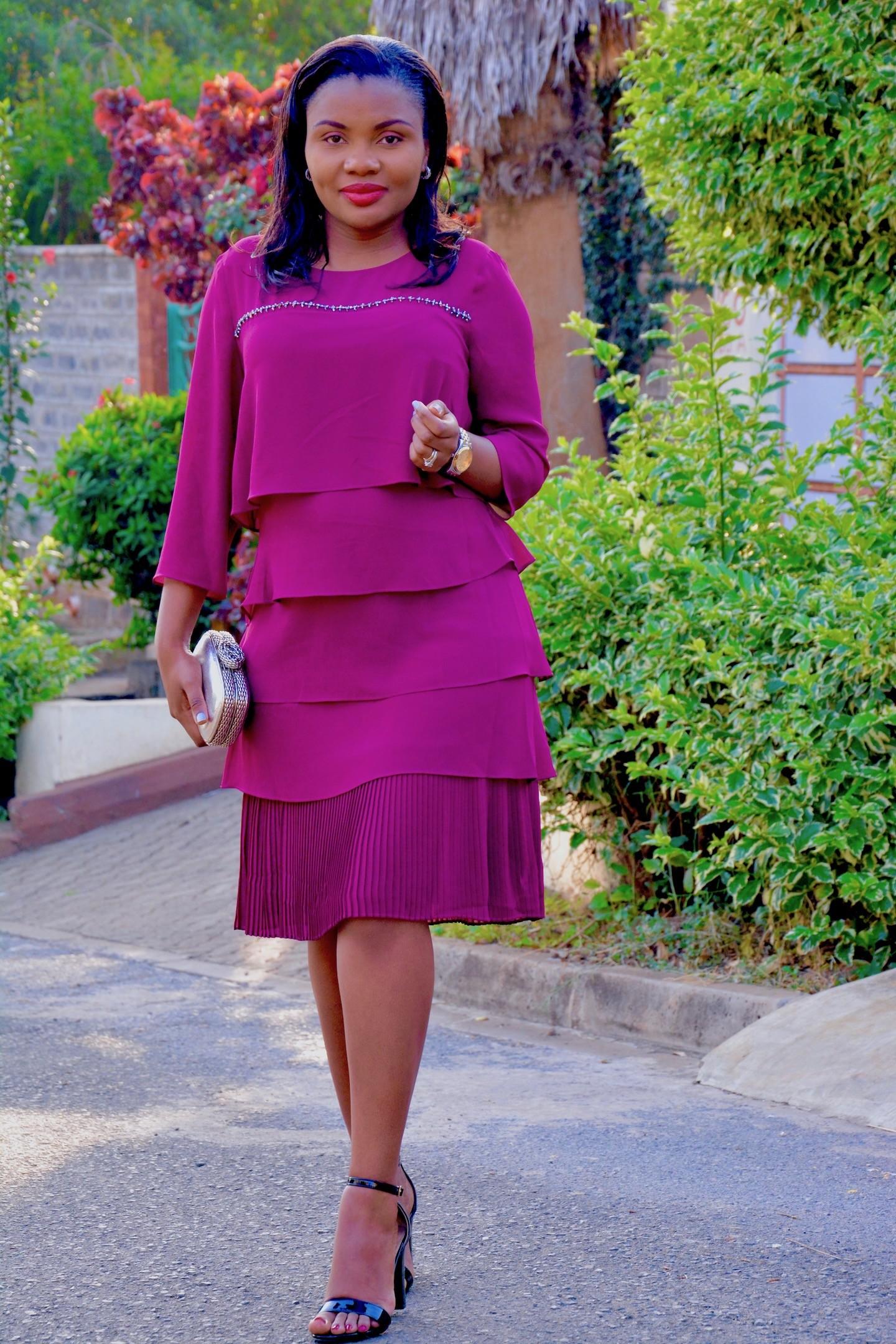 Flirty Magenta Dress