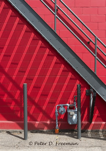 Stair Pattern on Red