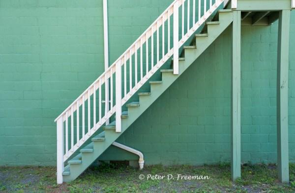 white-railing