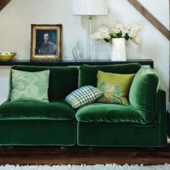 Green Velvet Sofa Couch Blue Kelly Emerald Interior Design Room ...