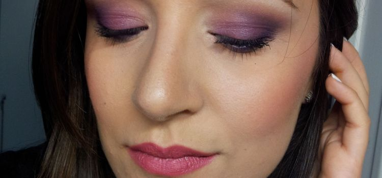 Make-up of the day #6 purple&fuxia