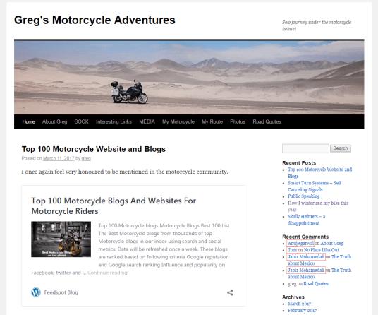 Greg's motorcycle adventures