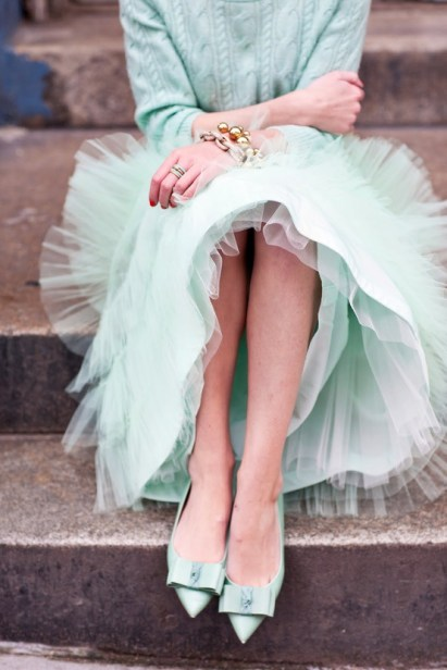 Tulle Skirt in Mint