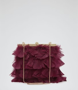Reiss Feather Embellished Clutch, $195, reiss.com