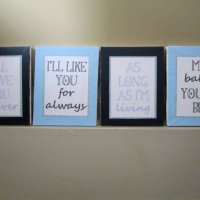 DIY Canvas Nursery Artwork