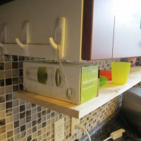 DIY Hanging Kitchen Shelf
