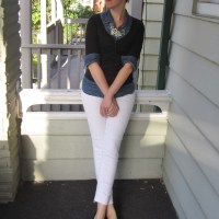 OOTD: White Jeans & Layers