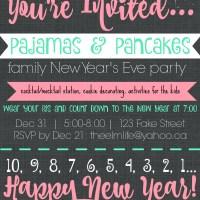 Pajamas & Pancakes - 2015 Edition