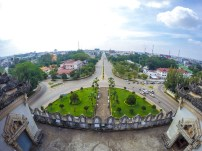 View from Patuxai Victory Monument