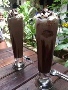 Chocolate Milkshake with Cream