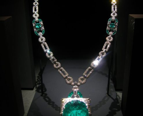 Mackay emerald and diamond necklace