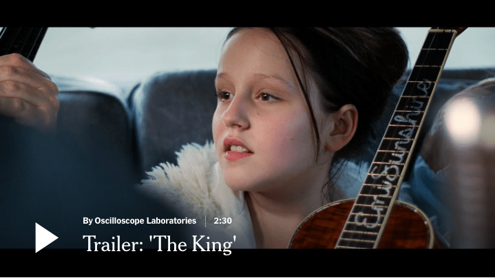 'The King' Gets New York Times Critic's Pick