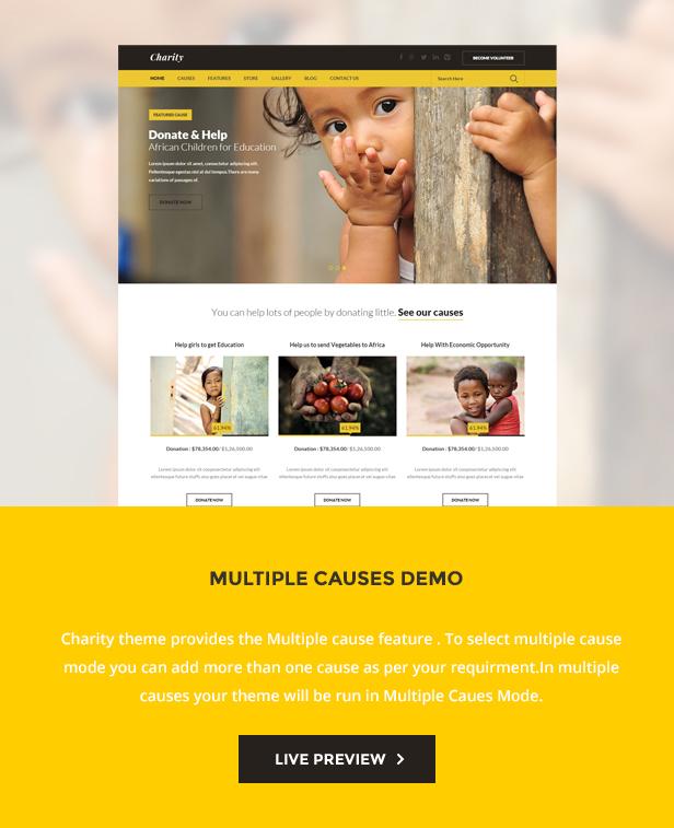 Charity: Nonprofit/NGO/Fundraising WordPress Theme - 3