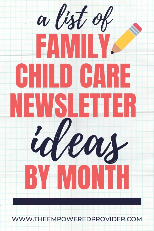 Get branding, websites, media, worksheets and free educational tools. How To Write A Child Care Newsletter The Empowered Provider