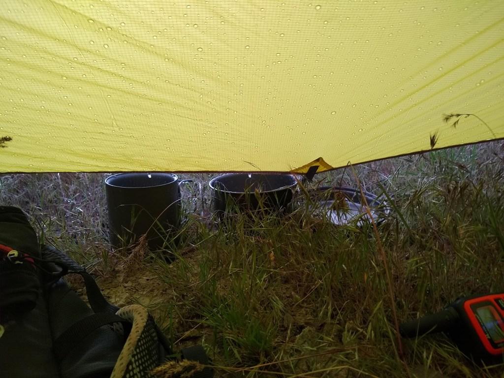 Harvesting rainwater on Stansbury Island