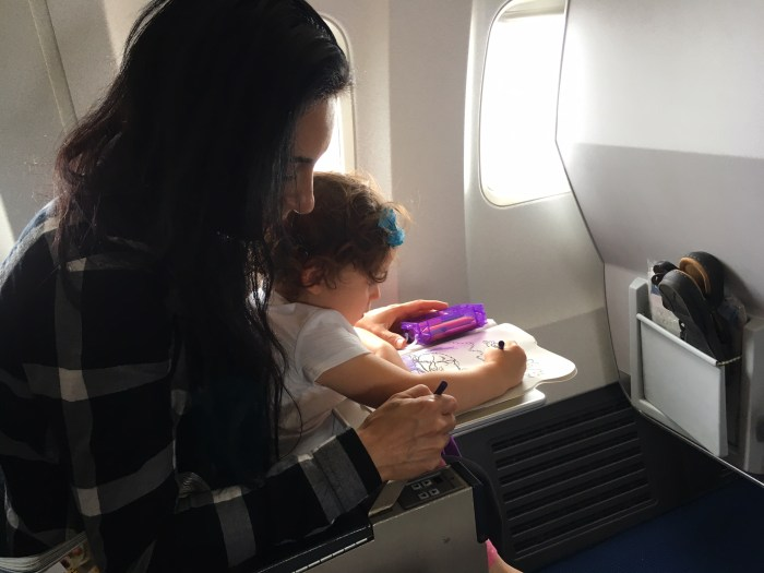 flight with toddler