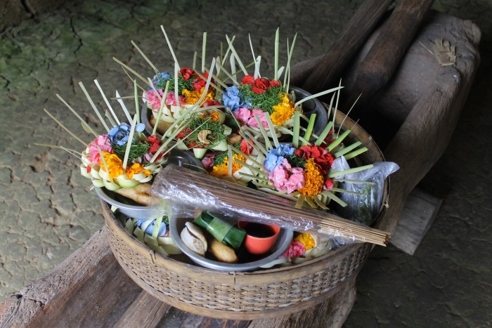 offering basket Bali Indonesia