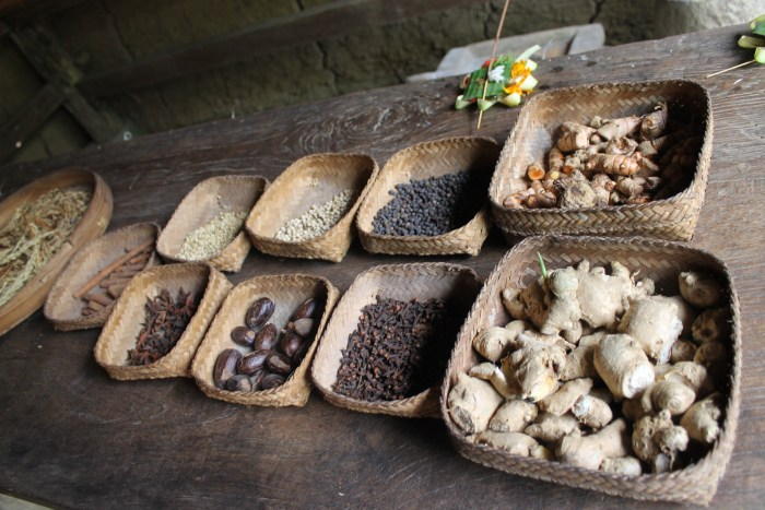 Spices from the plantation