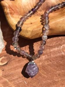flourite and amethyst necklace www.theenchantedgypsy.com