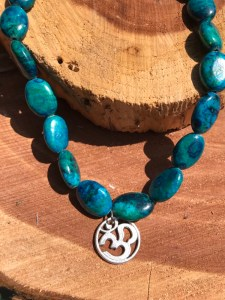 turquoise OM choker www.theenchantedgypsy.com