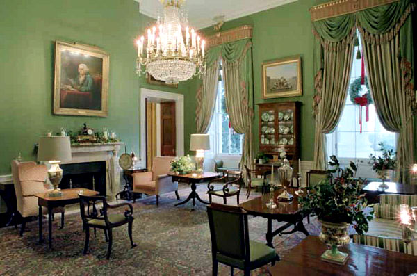 Green Room of the White House  The Enchanted Manor